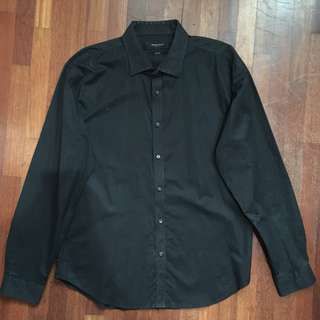 The Executive Black Shirts (Kemeja Lengan Panjang) size L