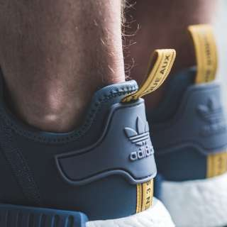 NMD R1 BLUE AND YELLOW (S31514) US9 / UK8.5 / EU42.5