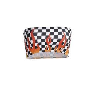 PO // Checkered Fire Bandeau // OM086