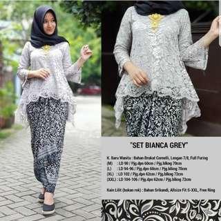 Lace batik wrap set