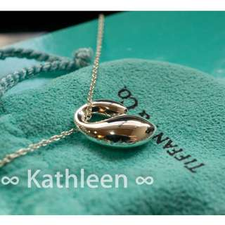 ∞ Kathleen ∞  Tiffany 925純銀 二手 經典 Eternal 項鍊
