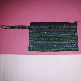 OFFER! Handmade Green Shimmering Pouch