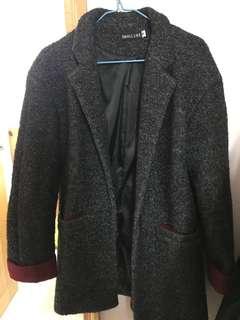 灰色氣質大衣 厚身修身 grey long coat