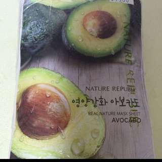 Beauty face masks avocado