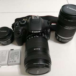 Canon 550D Full Set with 2 extra Lenses