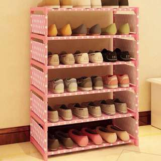 Stackable 6-Layer Shoe Rack