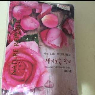 Beauty face masks rose