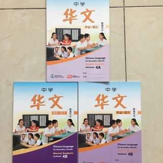 Chinese Language for Secondary Schools Normal Academic Textbook / Workbook