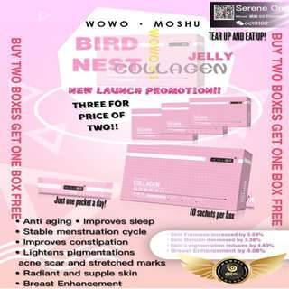 Wowo Moshu Cubilose Collagen Jelly ( Box of 10)