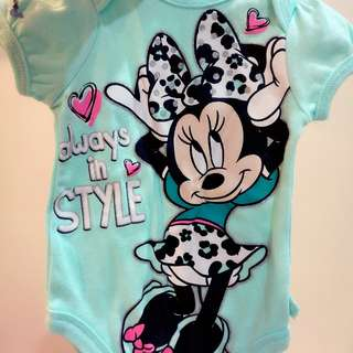 #Bajet20 Disney Minnie Mouse Baby Romper 0-3 Months