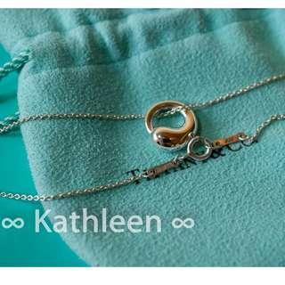 ∞ Kathleen ∞  Tiffany 925純銀 二手經典 項鍊 Eternal Circle