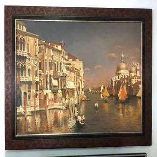 Oil painting , Venice in late morning