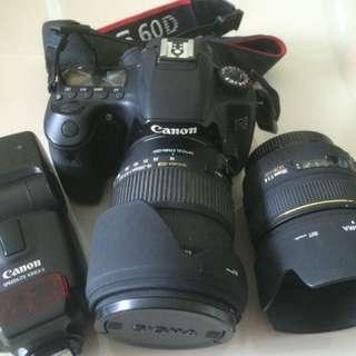 Canon 60D + 2pcs Sigma Lens