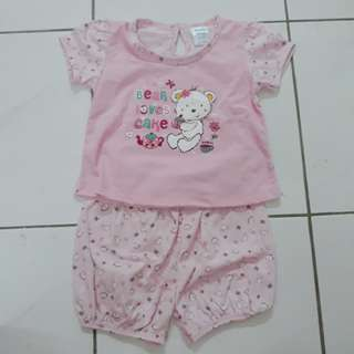 Pink Bear Top & Bottom