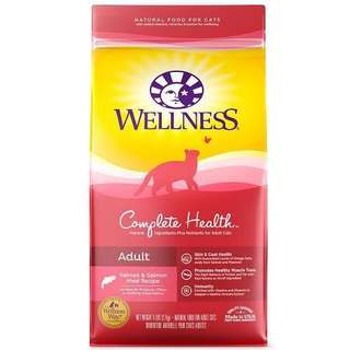 Wellness Complete Health Adult Health Salmon, Salmon Meal Cat Food 6lb $45 / 12lb $75