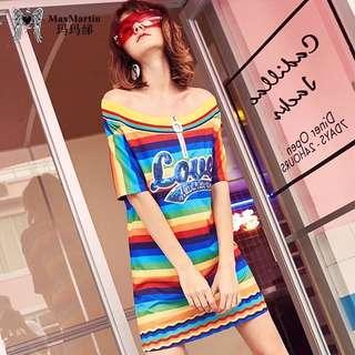 Rainbow Dress XS -2XL