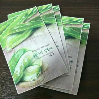 Nature Republic aloe Masks