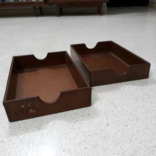 vintage wooden in trays