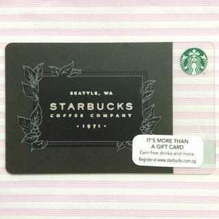 $10 Starbucks Singapore Card