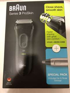 Braun series 3 proskin electric shaver with nose trimmer