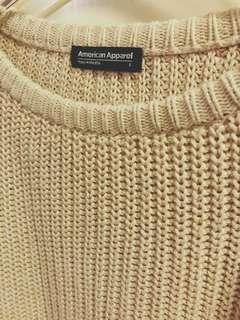 American Apparel 米色Jumper 針織衫 Made in USA