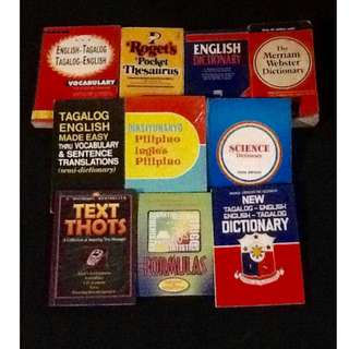 Assorted Dictionaries & Reference Books