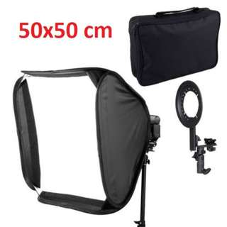 Pxel SB1F 50X50cm 20 inch 50cm Flash Softbox Reflector For Speedlight