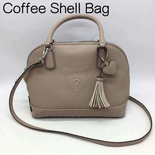Authentic Guess Women's Coffee Shell Bag