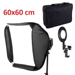 Pxel SB1F 60X60cm 24 inch 60cm Flash Softbox Reflector For Speedlight