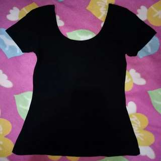 Bench Black Scoopback Top
