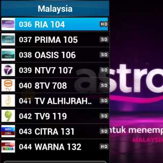 Moon TV ASTRO Channels Subscription  (ASTRO , HK, TAIWAN,  THAI, INDIAN, PINOY, SPORT, etc)