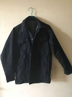 Denim jaket jeans black