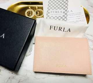 Furla裸色粉紅色散子包卡片包card case card holder