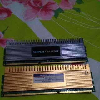 DDR3 RAM 2GBX2,DDR3 4GBX1打包出售
