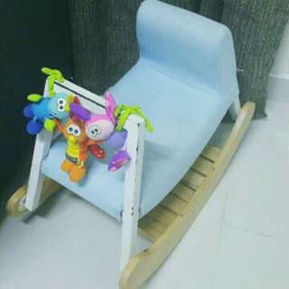 Child Rocking Chair with Playgro Hanging Softoys