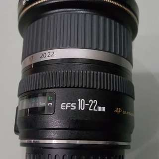 Wide Angle Lens Canon EFS 10-22mm