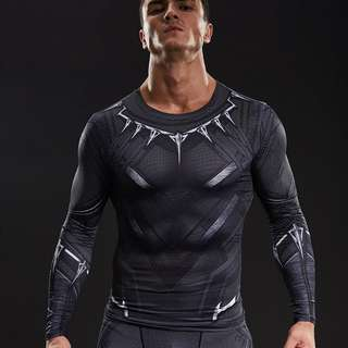 Black Panther Compression Shirt (Long Sleeves)