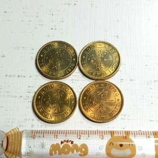 爆炸炫光3 香港1971 1979一毫硬幣4枚 全新未用 罕有 便宜出C
