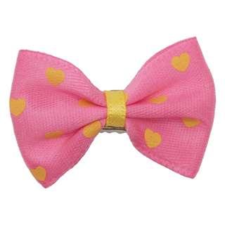 Dog Hair Clip - Hearts (Pink)