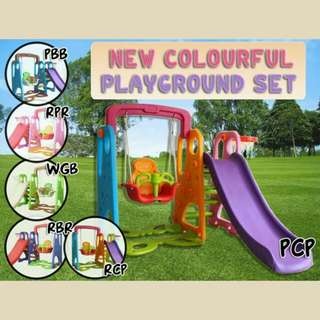 New colourful playground set