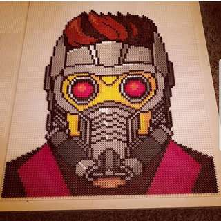 Hama beads design Guardians Of the Galaxy Peter Quill
