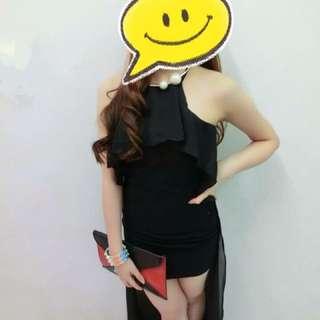 Bare Back Mullet Dress