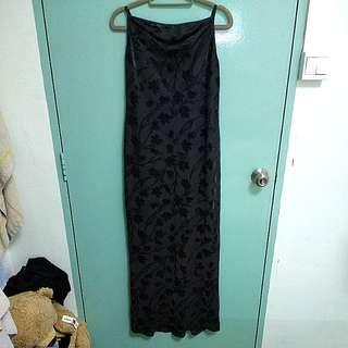 Black Silhouette Maxi Dress
