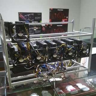 10 GPU RX 470 Series Low Power & High Performance Mining Rig - Ready Stock!