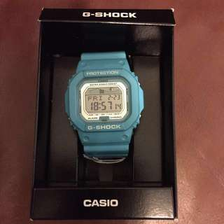 G-LIDE Light Blue Watch (model:GLX-5600A-2DR)