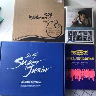 Super Junior 月曆 五件$150