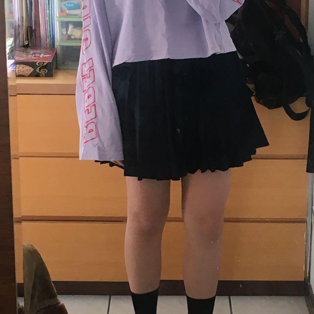 黑色百摺裙🤤