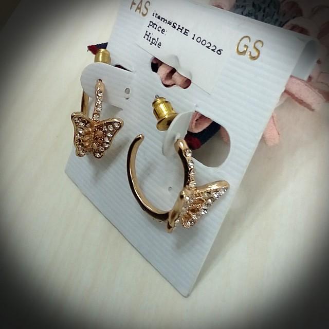 蝴蝶  c圈   耳環