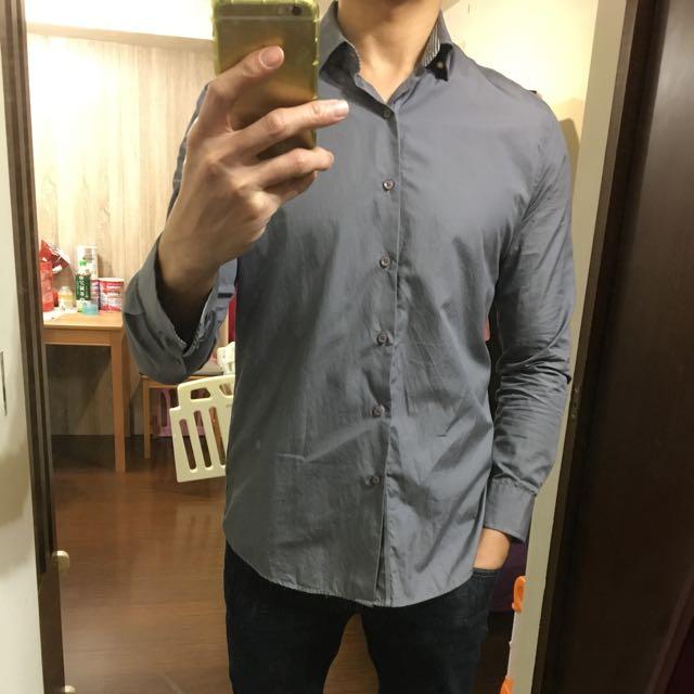 二手 FiG man 素色襯衫 M