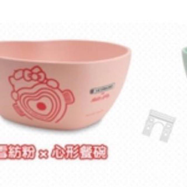 含運  粉色一組Hello Kitty盤+碗 Le Creuset法國風